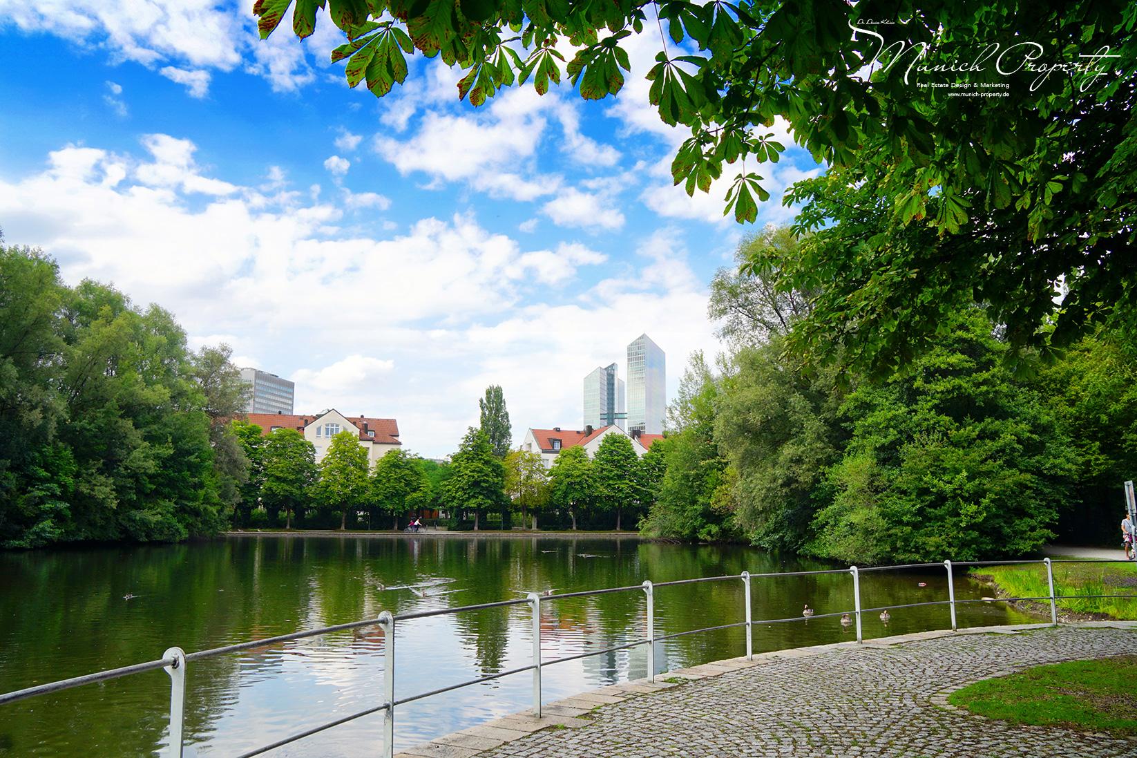 Idyllische Wohnlage in München Schwabing am See