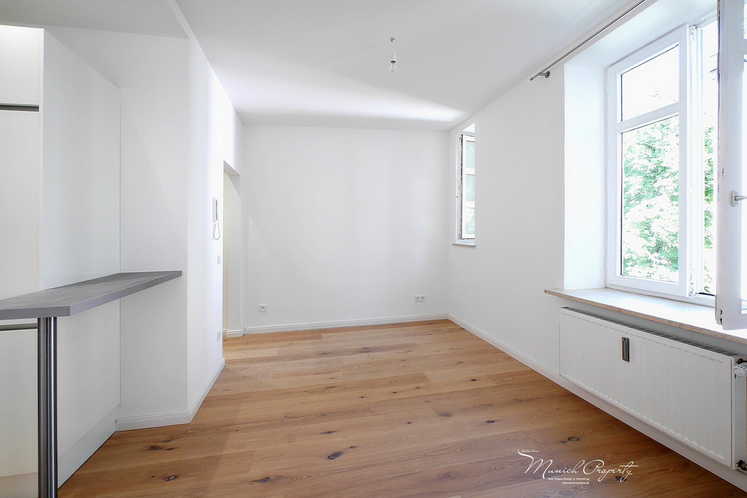 Wohnung mieten München Westend Schwanthalerhöhe: 2 Zimmer Altbau: Wohnzimmer